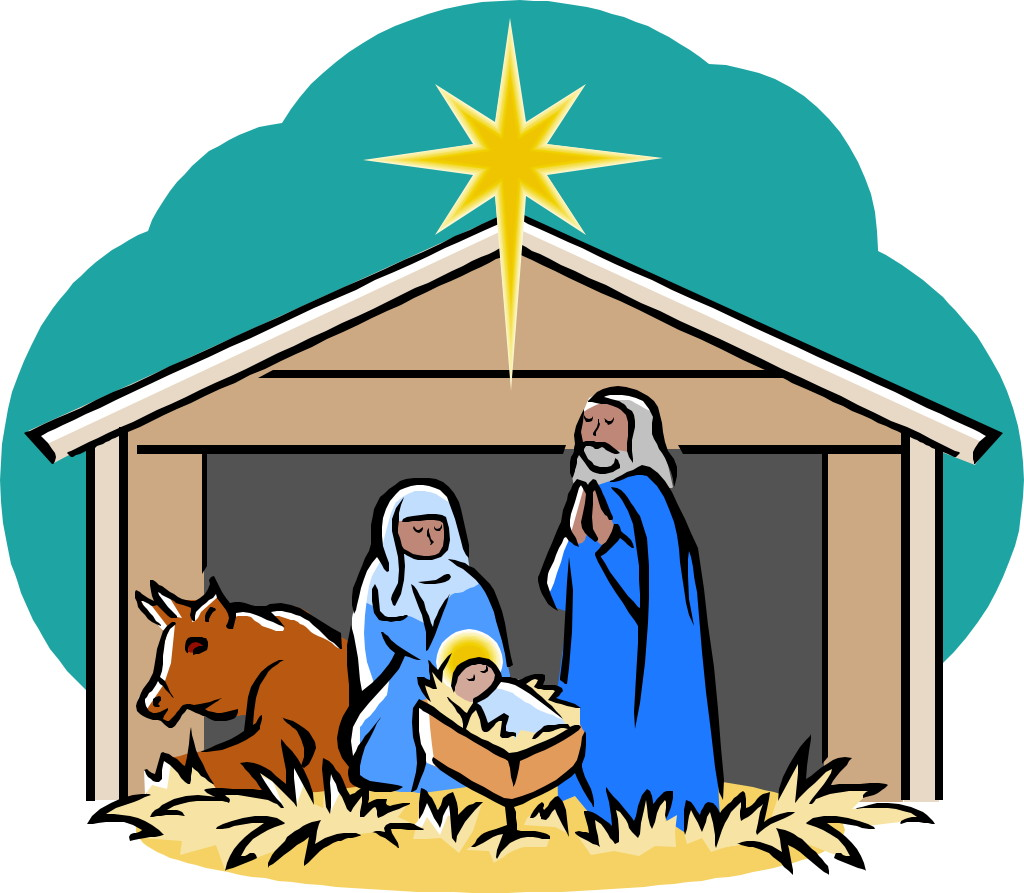 Star with Nativity Scenes Clip Art – Clipart Download